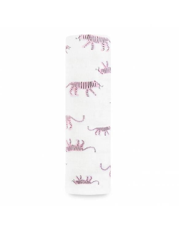 Muselina INDIVIDUAL aden+anais de algodón - Pink Tigers