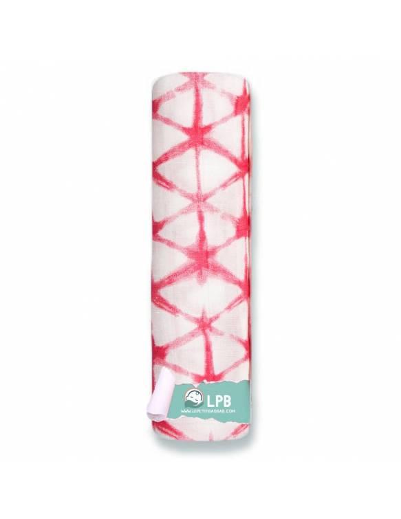 Muselina individual ADEN+ANAIS de bambú - Berry Shibori - Triángulos