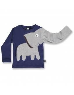 Camiseta Orgánica UBANG - Elefante Indigo