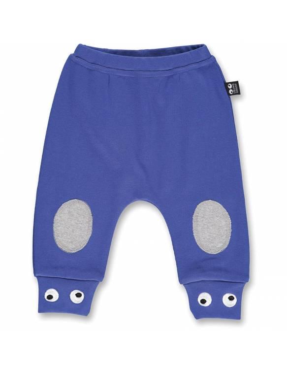 Pantalón Orgánico UBANG con divertidos ojos - Azul Brillante