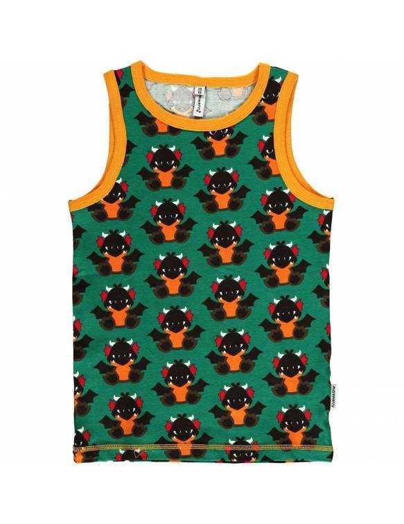 be80ad411 Camiseta Bebe Algodon Organico MAXOMORRA Estampado Dragón