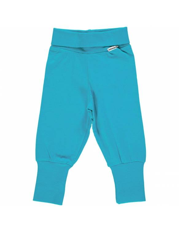 pantalon-bebe-algodon-organico-maxomorra-estampado-basico-turquesa