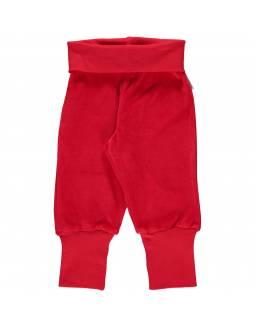 Pantalón Velour Orgánico MAXOMORRA - Básico Rojo