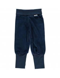 Pantalón Velour Orgánico MAXOMORRA - Básico Azul