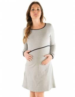 Camisón de Lactancia BAOBABS - Basic Grey