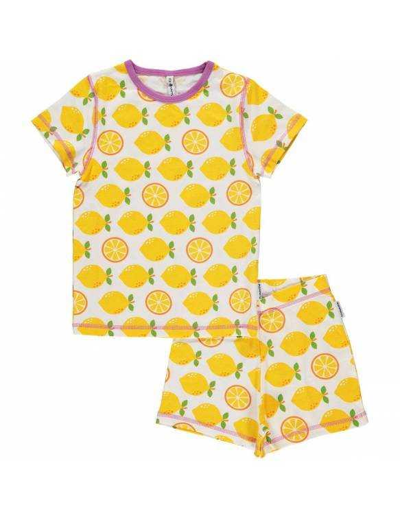 Pijama Orgánico MAXOMORRA - Limones