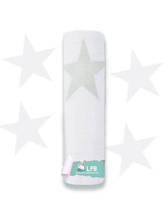 """Muselina individual aden+anais de algodón """"Super Star Scout - Plata"""""""