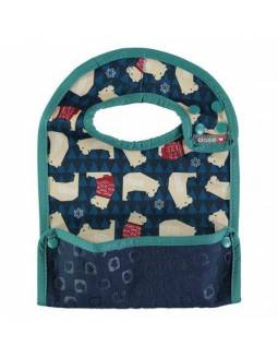 Babero reversible POP IN con bolsillo para migas - Oso Polar