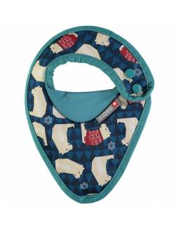 Babero reversible POP IN - Oso Polar