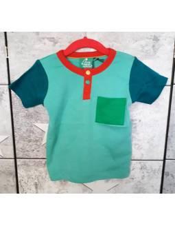 Camiseta de Algodón Orgánico LITTLE GREEN RADICALS - Turquesa