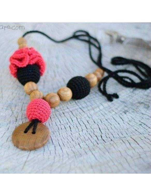 collar-porteo-lactancia-kangaroocare-flower-black-red