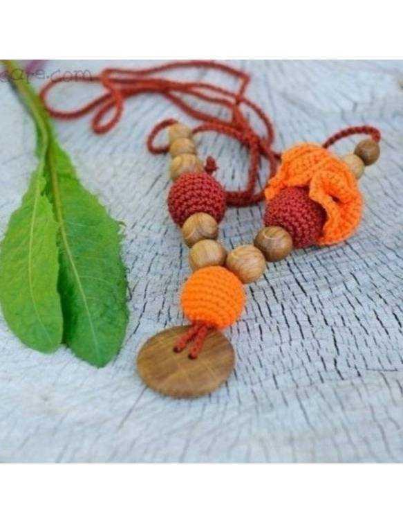 collar-porteo-lactancia-kangaroocare-flower-rusty-orange