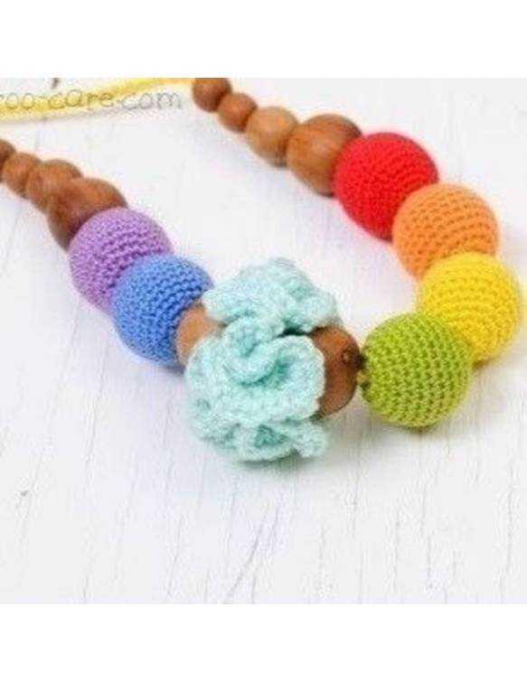 collar-porteo-lactancia-kangaroocare-flower-rainbow
