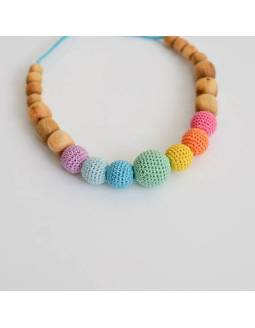 Collar KangarooCare para porteo y lactancia - Aqua Simple Rainbow