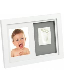 Marco Para Huellas de Bebé y Foto Con Pasta Preparada