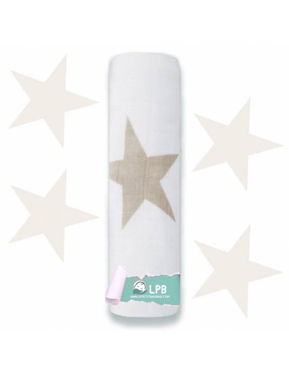 "Muselina individual aden+anais de algodón ""Super Star Scout - Tierra"""
