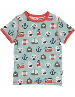 Camiseta de Algodón Orgánico MAXOMORRA - Oceáno
