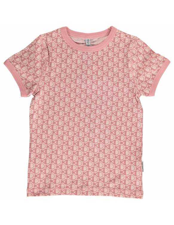 Camiseta de Algodón Orgánico MAXOMORRA - Pececitos