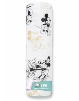 Muselina individual aden+anais de algodón con efecto metalizado - Mickey's 90th - Retro