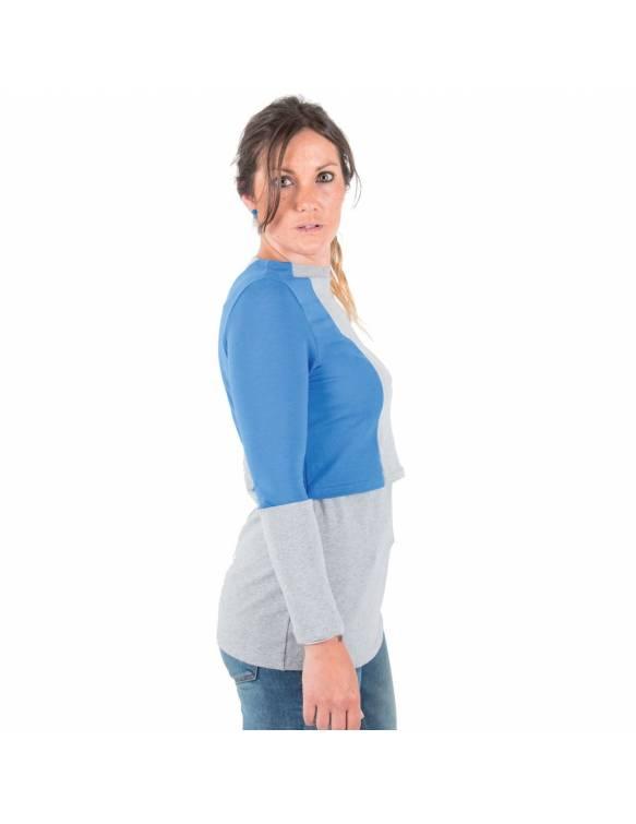Camiseta Lactancia BAOBABS - Geometric Blue