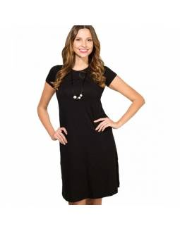 Vestido de lactancia BAOBABS - Moom Black Dress