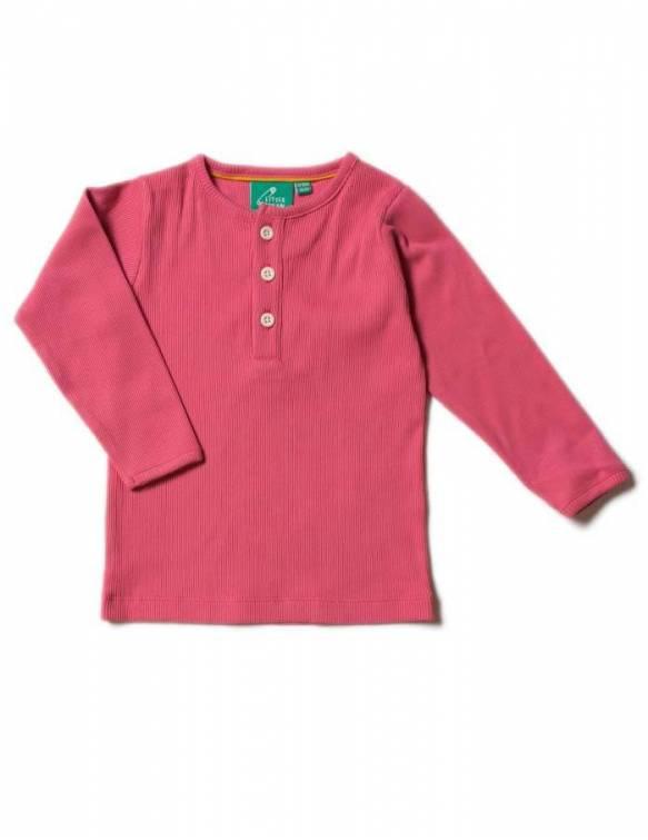 camiseta-bebe-nina-rosa-algodon-organico-little-green-radicals
