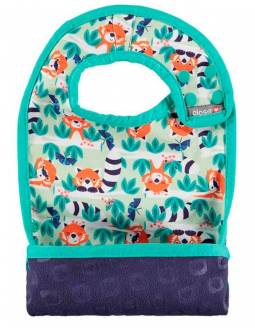 Babero reversible POP IN con bolsillo para migas - Red Panda