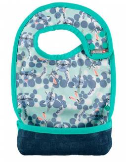 Babero reversible POP IN con bolsillo para migas - Snow Leopard