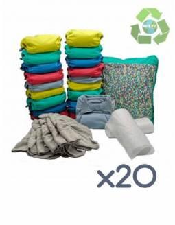 Pack 20 Pañales POP-IN Color Vivo De Bambú + Accesorios