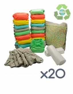 Pack 20 Pañales POP-IN Color Pastel De Bambú 2020