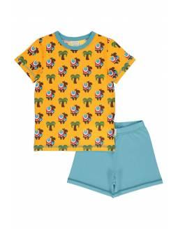 Pijama Orgánico MAXOMORRA Dos Piezas - Camellos
