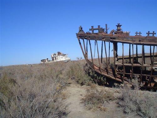 aral sea used to be here - El Mar de Aral, como el cultivo del algodón acabó con un gran lago