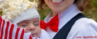 disfraz bebe con portabebes