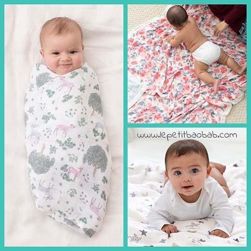Muselinas Bebé Extra Grandes En Le Petit BAOBAB