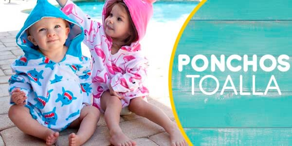 Ponchos Toallas Playa Bebe y Niños